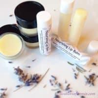 Homemade Lip Balm with Essential oils and Vitamin E