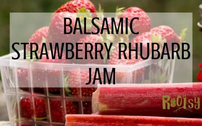 Low Sugar Balsamic Strawberry Rhubarb Jam
