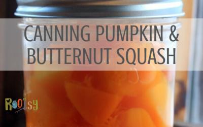 Canning Pumpkin and Butternut Squash