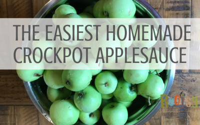 Easy Homemade Crockpot Applesauce with canning instructions