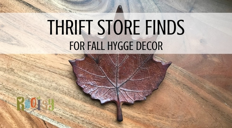 Thrift Store Finds for Fall Hygge Decor leaf hanging