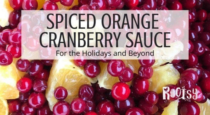 Spiced Orange Cranberry Sauce Recipe