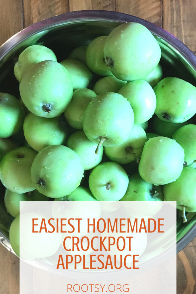 Easiest Homemade Crockpot Applesauce by Rootsy