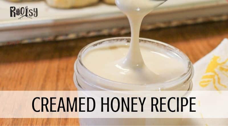 creamed honey in mason jar
