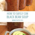 quart jars home canned black beans soup