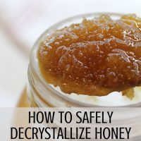 crystallized honey on spoon
